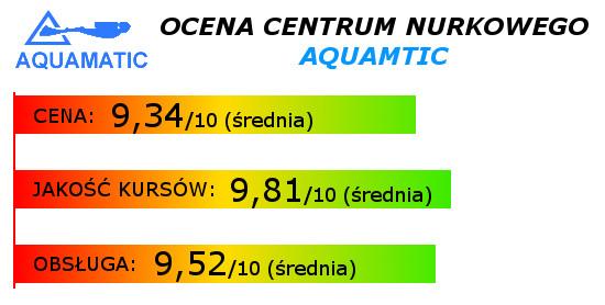 Ocena kursów nurkowych - Aquamatic